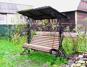 садовые качели кованые для дачи